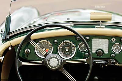 Photograph - 1959 Mg A 1600 Roadster Steering Wheel by Jill Reger