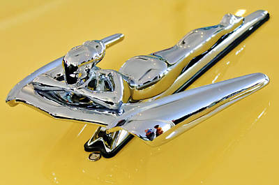 1959 Nash Metropolitan Coupe Hood Ornament Art Print by Jill Reger