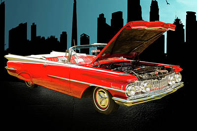 Digital Art - 1959 Oldsmobile Convertible 5539.04 by M K Miller