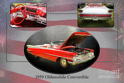 Photograph - 1959 Oldsmobile Convertible 5539.05 by M K Miller