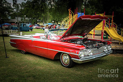 Vintage Auto Photograph - 1959 Oldsmobile Convertible 5539.07 by M K  Miller