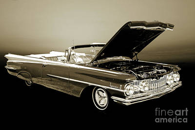 Photograph - 1959 Oldsmobile Convertible 5539.14 by M K Miller