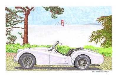 Painting - 1959 Triumph T R 3 by Jack Pumphrey