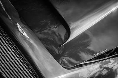 Photograph - 1960 Aston Martin Db-4 Series II Hood Emblem -0417bw by Jill Reger