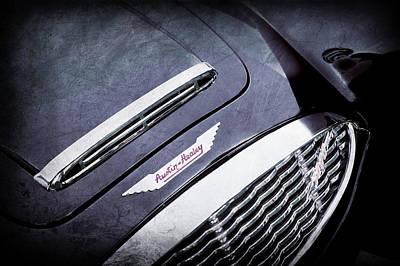 Photograph - 1960 Austin-healey 3000 Mki Bn7 Grille Emblem -0660ac by Jill Reger