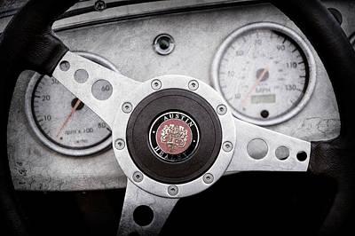 Photograph - 1960 Austin-healey -bugeye ' Sprite Mk I Steering Wheel Emblem -1155ac by Jill Reger