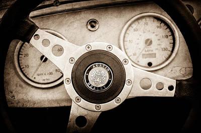 Photograph - 1960 Austin-healey -bugeye ' Sprite Mk I Steering Wheel Emblem -1155s by Jill Reger