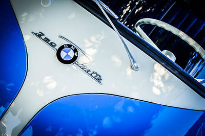 Photograph - 1960 Bmw Isetta Coupe Emblem -0975c by Jill Reger