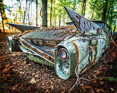 Photograph - 1960 Cadillac At Rest by Alan Raasch