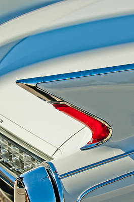 Art Print featuring the photograph 1960 Cadillac Eldorado Biarritz Convertible Taillight by Jill Reger