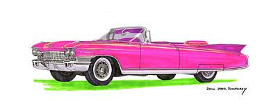 Painting -  1960 Cadillac Eldorado Biarritz by Jack Pumphrey