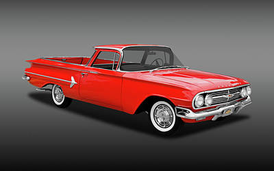 Photograph - 1960 Chevrolet El Camino Pickup  -  1960chevelcaminofa170281 by Frank J Benz