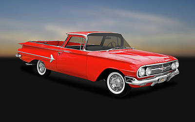 Photograph - 1960 Chevrolet El Camino Pickup  -  1960chevyelcamino170281 by Frank J Benz