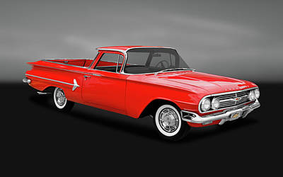 Photograph - 1960 Chevrolet El Camino Pickup  -  60chevyelcaminogry170281 by Frank J Benz