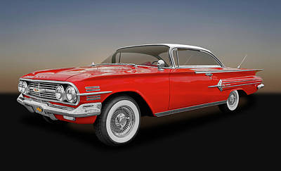 Photograph - 1960 Chevrolet Impala 2 Door Hardtop  -  1960chimpht3271 by Frank J Benz