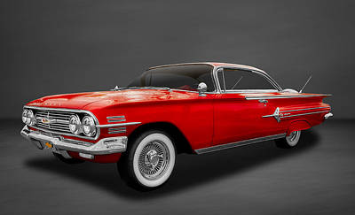 Photograph - 1960 Chevrolet Impala 2-door Hardtop  -  60chgr22 by Frank J Benz