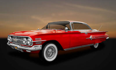Photograph - 1960 Chevrolet Impala 2-door Hardtop  - 60chim11 by Frank J Benz