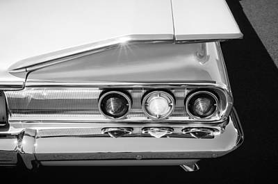 Photograph - 1960 Chevrolet Impala Tail Lights -175bw by Jill Reger