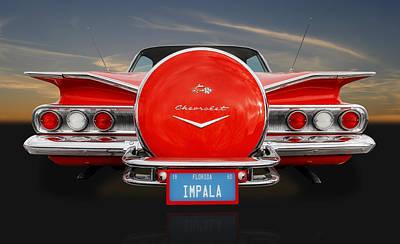 Street Rod Photograph - 1960 Chevy Impala Continental Kit by Frank J Benz