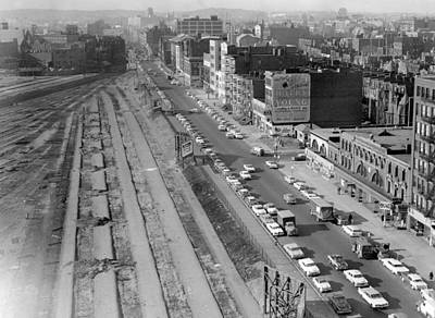 Photograph - 1960 Construction On Boylston Street Boston by Historic Image
