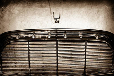 Photograph - 1960 Desoto Fireflite Two-door Hardtop Grille Emblem -0931s by Jill Reger
