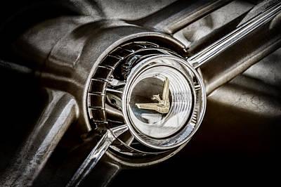 Photograph - 1960 Desoto Fireflite Two-door Hardtop Steering Wheel Emblem -0950ac by Jill Reger