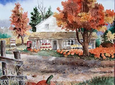 Painting - 1960 Farm Market by Tony Caviston