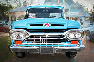 Photograph - 1960 Ford F100 Pick Up Truck  by Rich Franco