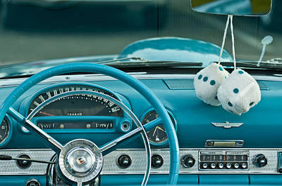 1960 Ford Thunderbird Dash Art Print