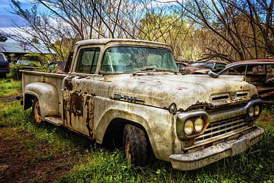 Photograph - 1960 Ford Truck by Debra and Dave Vanderlaan