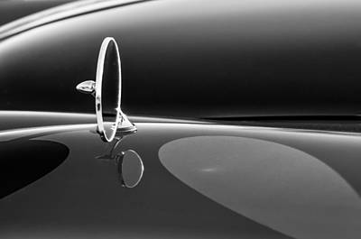 Photograph - 1960 Jaguar Xk150 Roadster Side View Mirror -0553bw by Jill Reger
