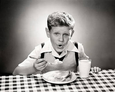 Photograph - 1960 Pie And Ice Cream by Historic Image