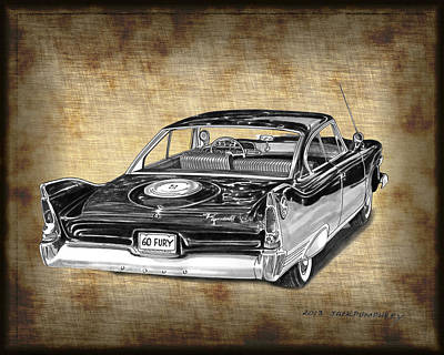 Fury Painting - 1960 Plymouth Fury IIi by Jack Pumphrey