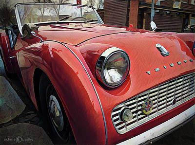 Photograph - 1960 Triumph Tr3 by Tim Nyberg