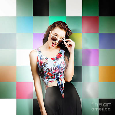 Photograph - 1960s Fashion Wall Pin-up by Jorgo Photography - Wall Art Gallery