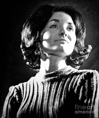 Photograph - 1960's Model Portrait 3 by Joan-Violet Stretch