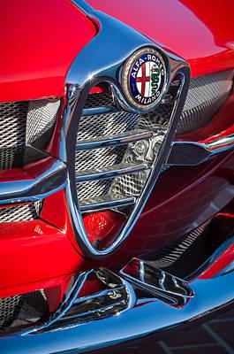 Photograph - 1961 Alfa Romeo Giulietta Sprint Speciale Grille Emblem -1223c by Jill Reger