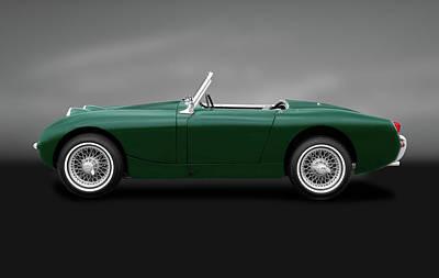 Photograph - 1961 Austin Healey Sprite  -  1961austinhealeybugeyegray184444 by Frank J Benz