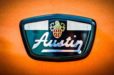 Photograph - 1961 Austin Mini Emblem -0953c by Jill Reger