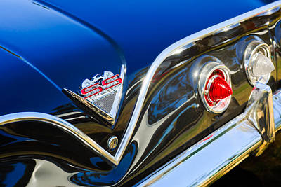 1961 Chevrolet Bel Air Impala Ss Bubble Top Tail Light Emblem -0249c Art Print by Jill Reger