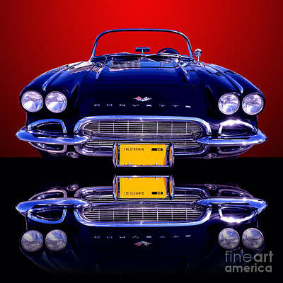 1961 Chevy Corvette Art Print by Jim Carrell