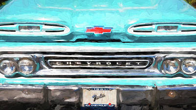 Photograph - 1961 Chevy Pick Up Truck Apache Series  by Rich Franco
