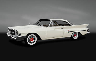 Photograph - 1961 Chrysler 300g Hardtop Coupe  -  1961chrysler300ghdtpgray184364 by Frank J Benz