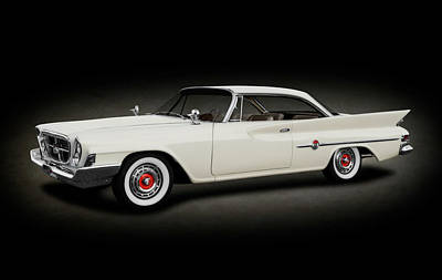 Photograph - 1961 Chrysler 300g Hardtop Coupe  -  1961chrysler300ghdtpspttext184364 by Frank J Benz