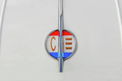 Photograph - 1961 Chrysler 300g Trunk Lid Badge  -  1961chrysler300gtrunklogo184366 by Frank J Benz