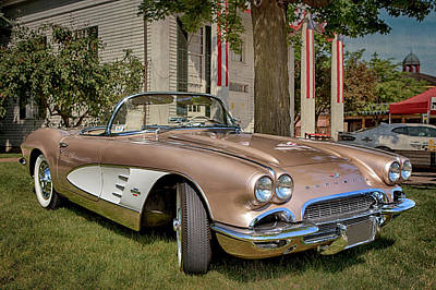 Photograph - 1961 Corvette Convertible by Susan Rissi Tregoning