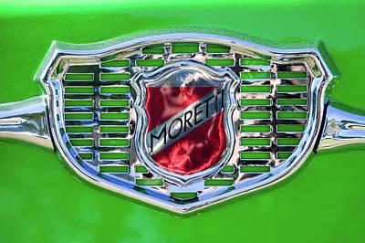 Photograph - 1961 Fiat Moretti Multipla 750 Mare Emblem -0310c by Jill Reger