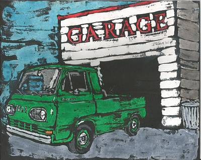 Ford Econoline Painting - 1961 Ford Econoline Pickup by Dick Gallagher
