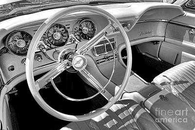 1961 Ford Thunderbird Interior  Art Print by Olivier Le Queinec