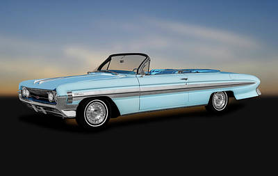 Photograph - 1961 Oldsmobile Starfire Convertible  -  1961oldsmobilestarfireconvertible184385 by Frank J Benz